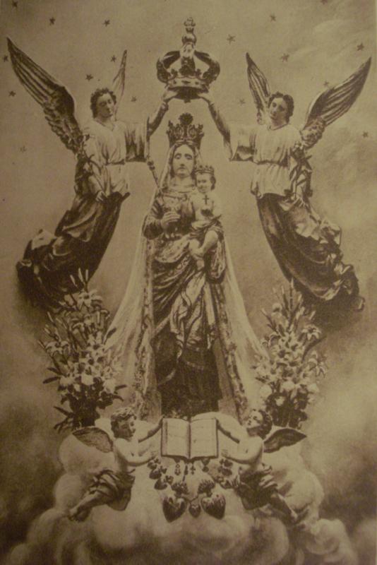 la statue de la Vierge telle qu'elle était présentée avant les saccages modernistes