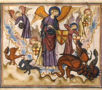 Combat de St Michel et des anges.