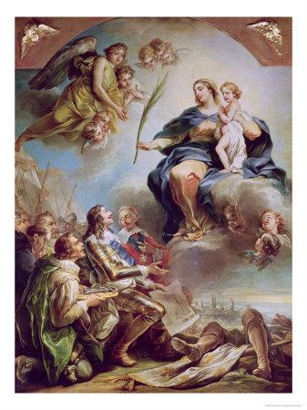 Louis XIII présente à Marie les plans de N.D. des Victoires