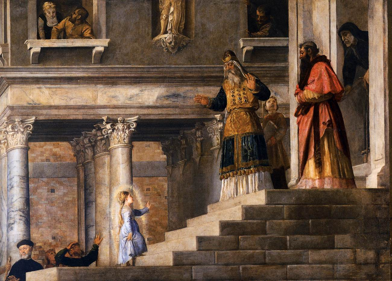 Présentation de Marie (Le Titien-détail)