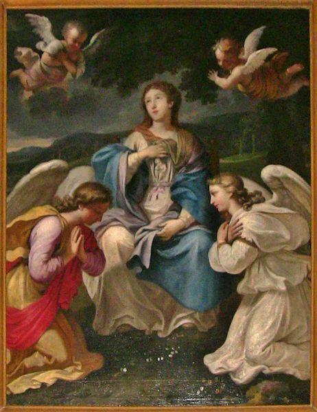 Daniel Hallé La vierge enceinte, tableau de l'église de Saint-Pierre-lès-Nemours.