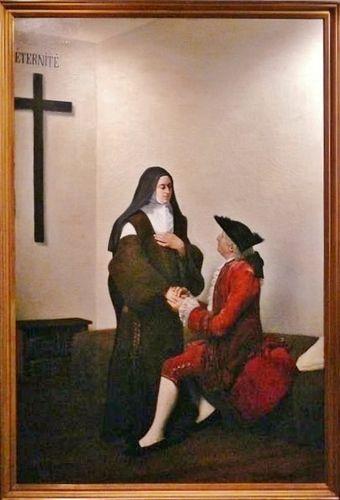 Maxime Le Boucher - 1822 - Louis XV rendant visite à Madame Louise au Carmel