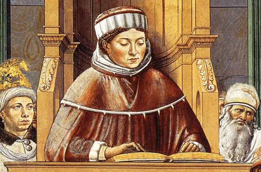 Saint Augustin enseignant (B. Gozzolli)