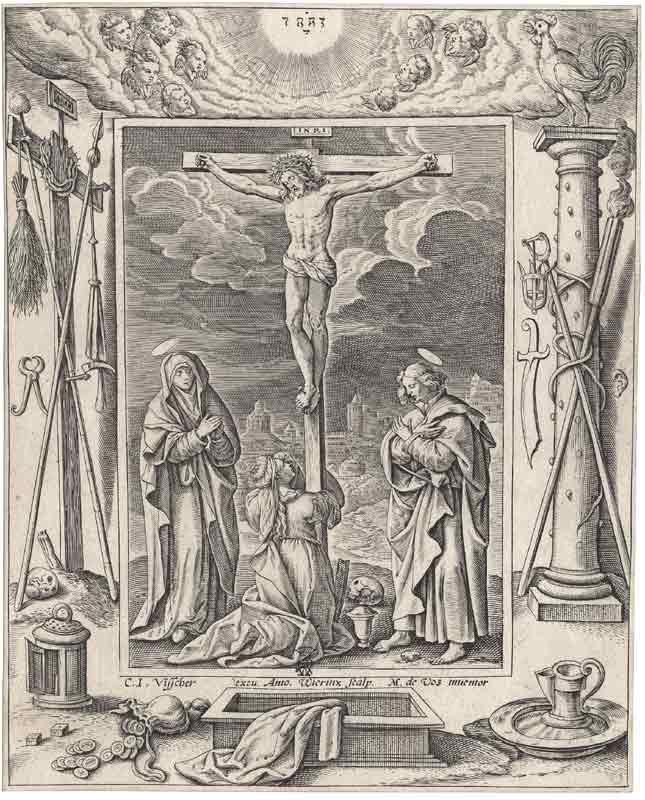 Crucifixion (gravure de Missel du XVIIème siècle)