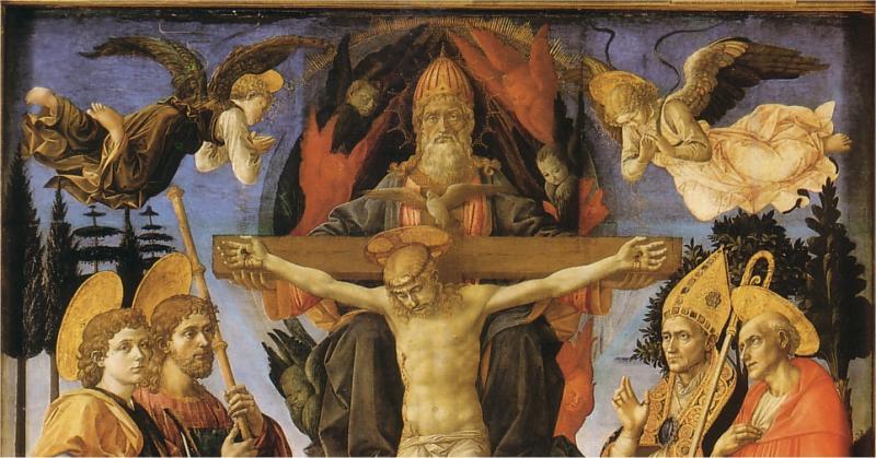 la Sainte Trinité avec les Saints.