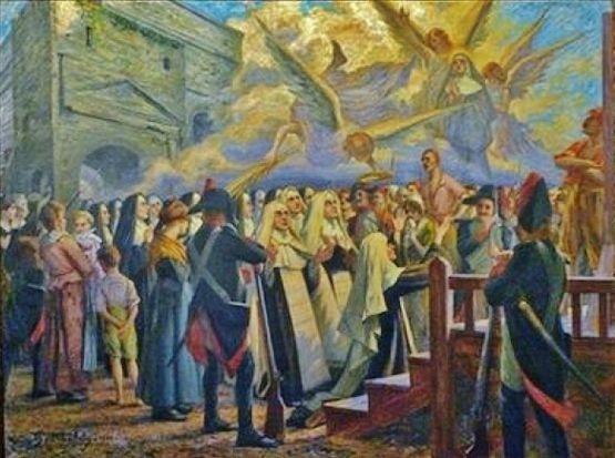 Les Bienheureuses Martyres d'Orange au pied de l'échafaud