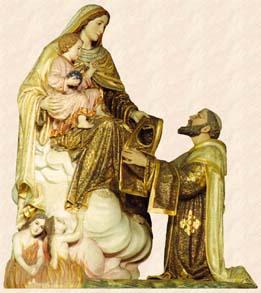 La Vierge remet le scapulaire à St Simon Stock