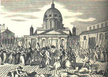 Scène de massacre à la Salpêtrière - septembre 1792
