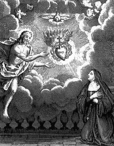 Jésus manifestant son Coeur à Ste Marguerite-Marie
