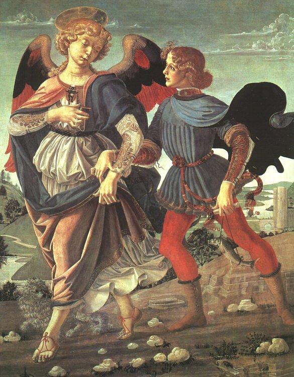 Saint Raphaël peint par Verrocchio