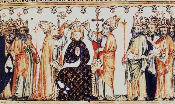 Sacre - miniature des Grandes Chroniques de France