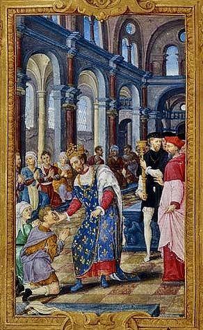 Toucher des écrouelles après le sacre