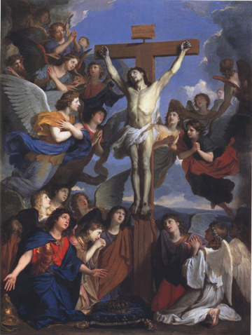Le Crucifié adoré par les Anges (Charles Lebrun)