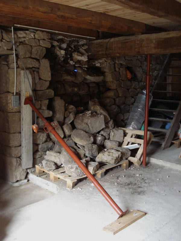 Le mur qui s'est effondré le 2 juillet au matin