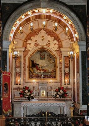 Autel des reliques de Sainte Philomène à Mugnano del Cardinale