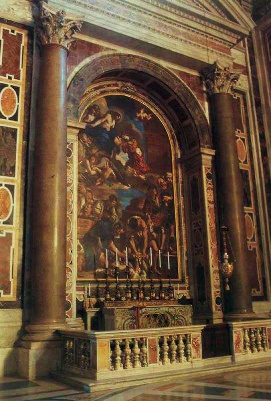 Basilique de Saint-Pierre au Vatican : autel des reliques de Sainte Pétronille