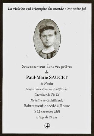 Memento du Sergent Paul Saucet