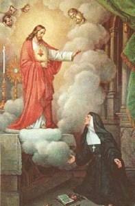 Apparition du Sacré-Coeur à Sainte Marguerite-Marie