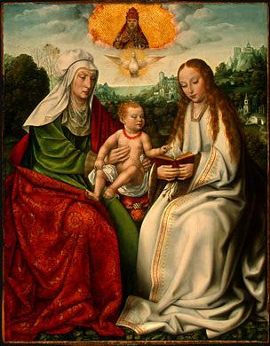 Sainte Anne, la Vierge Marie et l'Enfant Jésus