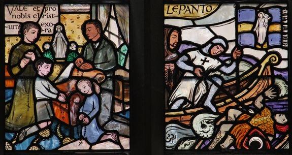 Rosaire & Lépante - église ND de la Victoire à Londres