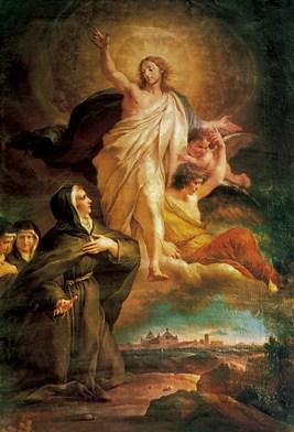 Le Christ apparaissant à Sainte Angèle de Foligno