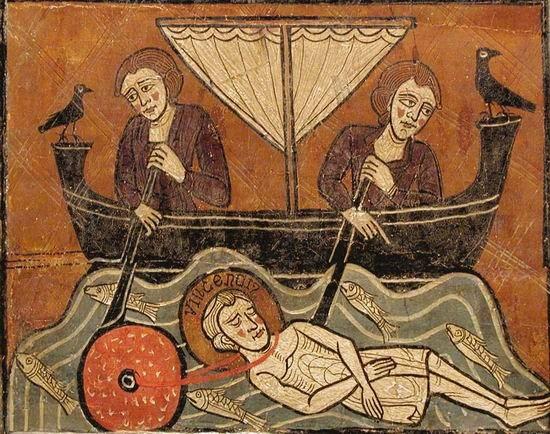 Le corps de Saint Vincent jeté à la mer