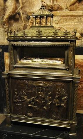 Reliquaire du bras de Saint Vincent à Valencia.
