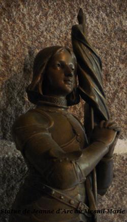 Statue de Sainte Jeanne d'Arc au Mesnil-Marie