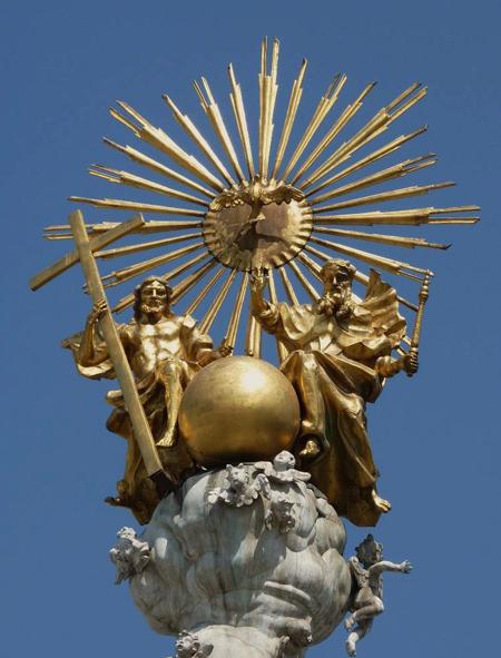 Linz - Sommet de la colonne de la Sainte Trinité