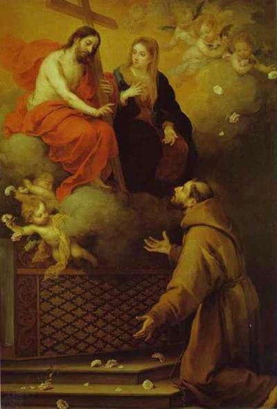 l'apparition du Christ et de sa Mère à Saint François