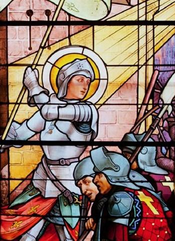 Sainte Jeanne d'Arc à Orléans (vitrail)