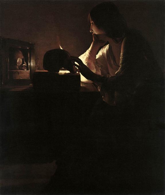 2012-12. A la veille du grand carême, méditation sur la Magdeleine repentante de Georges de La Tour. dans De liturgia 11repent-1