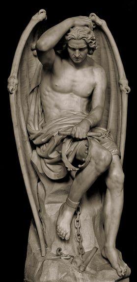 Lucifer enchaïné - cathédrale de Liège - Guillaume Geefs 1848