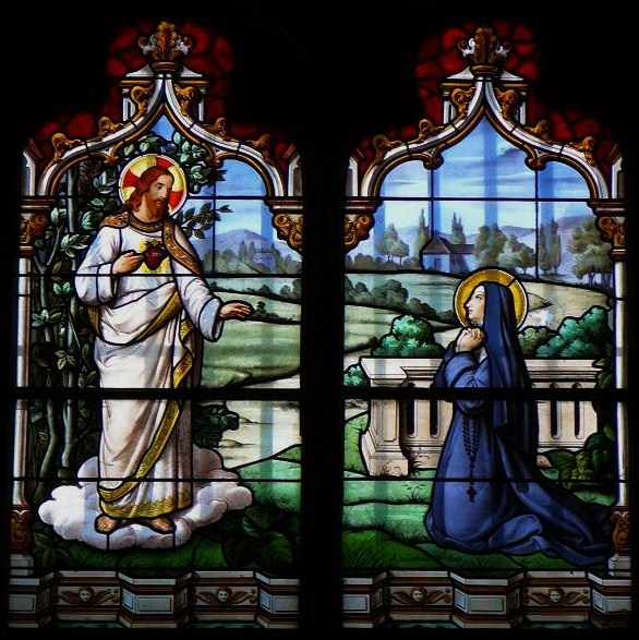 Salutations au Sacré-Coeur de Jésus dans De liturgia apparition-Ste-Marguerite-Marie-Alacoque-Copie