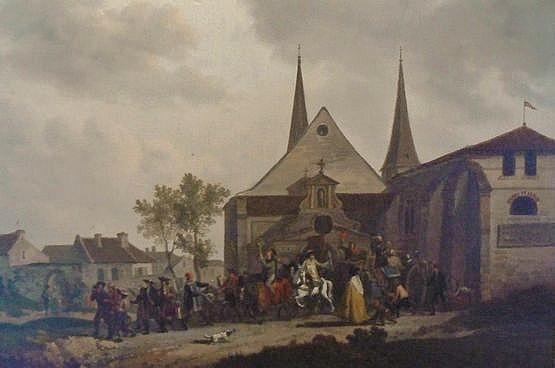 Pillage d'une église pendant la révolution