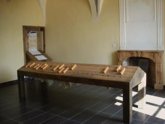 Salle présentant la vie monastique et son organisation