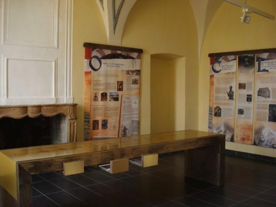 Salle présentant l'histoire de l'abbaye