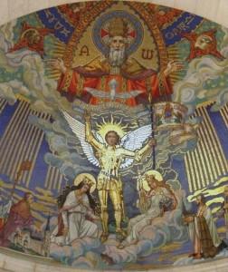 Saint Michel, protecteur de la France, intercédez pour elle! dans De liturgia basilique_domremy_abside-1-252x300