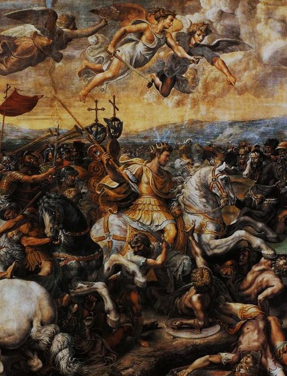 constantin-dans-la-bataille-du-pont-milvius-raphael Annum sacrum dans Memento