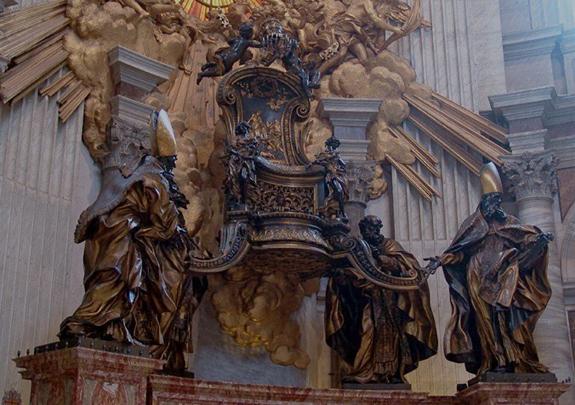 reliquaire-de-la-chaire-de-st-pierre-bernini-copie cinquantième anniversaire