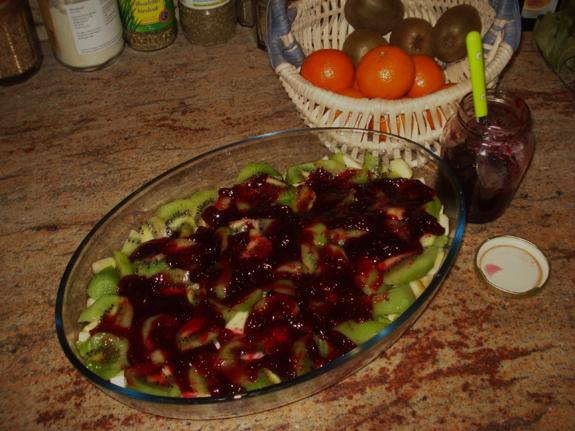 preparation-crumble-pommes-and-kiwis crumble dans Recettes du Mesnil-Marie