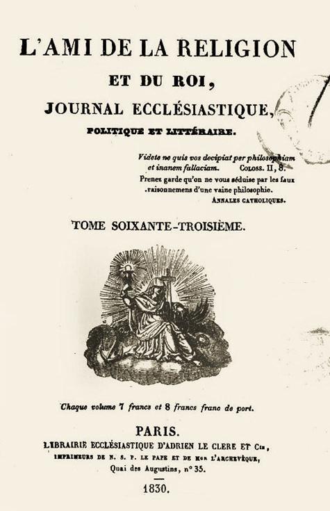 2013-34. Le dernier Jeudi Saint de la Monarchie Très Chrétienne. dans De liturgia ami-de-la-religion-et-du-roi-1830