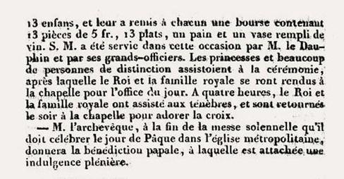 nouvelles-ecclesiastiques-semaine-sainte-1830-2 Charles X dans Vexilla Regis