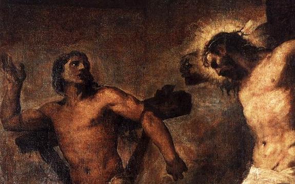 titien-le-christ-et-le-bon-larron-detail-1 conversion dans Nos amis les Saints