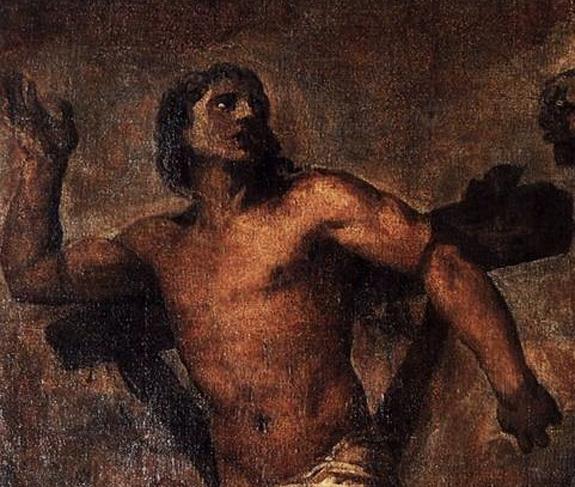 titien-le-christ-et-le-bon-larron-detail-3 bon larron dans Lectures & relectures