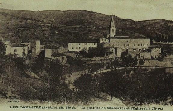 Lamastre : quartier de Macheville