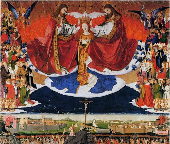 Consécration du genre humain au Coeur immaculé de Marie (Vénérable Pie XII) dans De liturgia enguerrand-quarton-couronnement-de-la-vierge