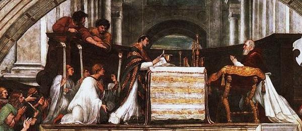 2013-46. Du sept-cent-cinquantième anniversaire du miracle de Bolsena. dans De liturgia raphael-le-miracle-de-bolsena-vatican