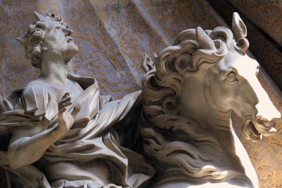 Le Bernin statue équestre de Constantin (détail)