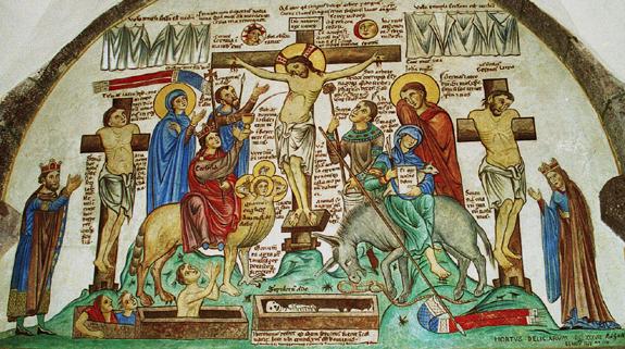 mont-st-odile-crucifixion-dapres-herrade-de-landsberg-hortus-deliciarum Coeur de Jésus